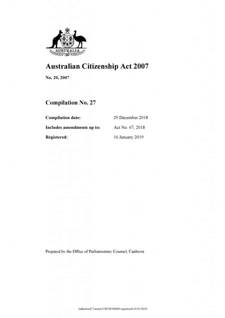 Australian Citizenship and Character Requirements
